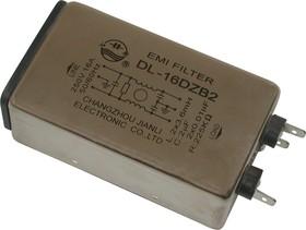 DL-16DZB2, 16А, 250В, Сетевой фильтр