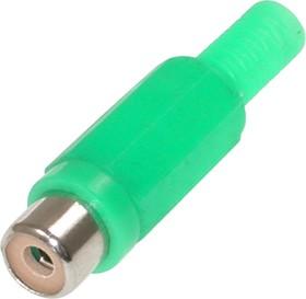 Фото 1/2 RP-406, RCA JACK на кабель (зеленые)