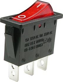 Фото 1/2 R495BRBET2-G(B120E), Выключатель с лампочкой ON-OFF(250В16А)