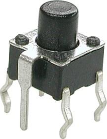 Фото 1/2 TC-0114, Кнопка тактовая с заземлением 6х6мм, h=7мм (TS-A3PG-130)