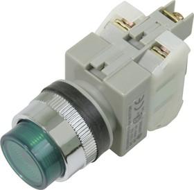 CA25-PE11N (зеленая), Кнопка с подсветкой Ф25