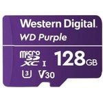 WDD128G1P0A, Флеш-накопитель WD Карта памяти WD Purple Surveillance MicroSDXC WDD128G1P0A 128ГБ Class UHS 3 (U3),