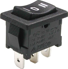 MRS-103A-C6-B, Переключатель ON-OFF-ON (6A 250VAC) SPDT 3P, черная клавиша