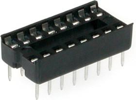 Фото 1/2 SCS-16 (DS1009-16AN), DIP панель 16 контактов узкая
