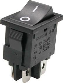 KLS7-024-201011BB (SWR45, R19-20BBBT), Переключатель черный (250В 5А) 2xON-OFF