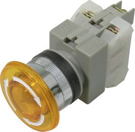 CA25-L11N (желтая), Кнопка закручивающаяся с подсветкой Ф25