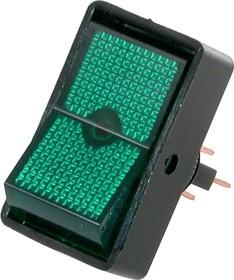 ASW-11-102 (зеленый), Переключатель ON-ON 3P (20A 12VDC)