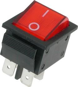 Фото 1/2 IRS-201-1A3 (красный), Переключатель с подсветкой ON-OFF (15A 250VAC) DPST 4P