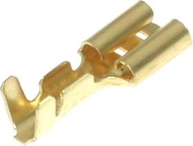 Фото 1/3 TA-3.5FO, Клемма ножевая 6,3мм, гнездо на провод 2,5-4,0мм, кратно 100шт.
