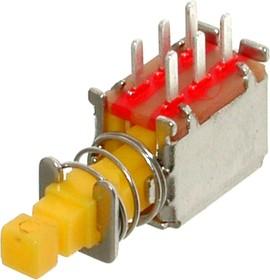 PS-22F11, Переключатель кнопочный с фиксацией (0.5A 50VDC) (B4004)
