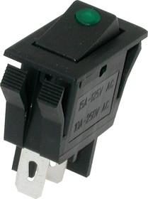 IRS-1E-2C, Переключатель зеленый с подсветкой ON-OFF (10А 250VAC)