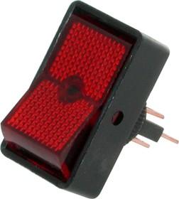 ASW-11D (красный), Переключатель с подсветкой ON-OFF (20A 12VDC)