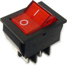 Фото 1/2 IRS-201-2B3 (красный), Переключатель с подсветкой ON-OFF (15A 250VAC) DPST 4P