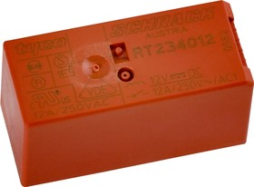 4-1393243-6 (RT424A12), Реле 12VDC 2пер. 8A/250VAC бистабильное поляризованное