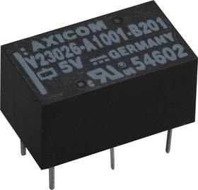 Фото 1/2 1393774-1 (V23026A1001B201), Реле 5VDC 1пер. 1A/250VAC