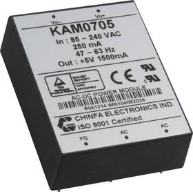 Фото 1/2 KAM0705, AC/DC преобразователь, 5В,1.5А,7.5Вт
