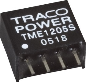 Фото 1/4 TME 1205S, DC/DC преобразователь, 1Вт, вход 10.8-13.2В, выход 5В/200мА