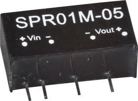 SPR01M-05, DC/DC преобразователь, 1Вт, вход 10.8-13.2В, выход 5В/200мA