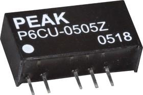 P6CU-0505ZLF, DC/DC преобразователь, 1Вт, вход 4.5-5.5В, выход 5, -5В/100мА