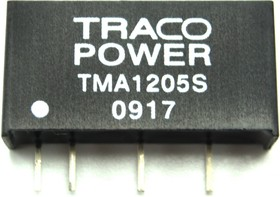 Фото 1/4 TMA 1505D, DC/DC преобразователь, 1Вт, вход 13.5-16.5В, выход 5,-5В/100мА