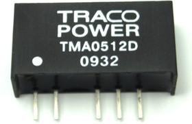 TMA 0512S, DC/DC преобразователь, 1Вт, вход 4.5-5.5В, выход 12В/80мА
