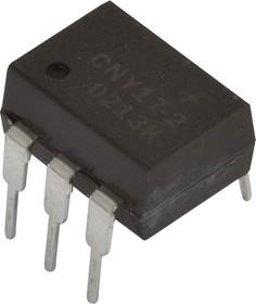 Фото 1/4 CNY17-2, Оптопара с высоким выходным напряжением пробоя, с транзисторным выходом [DIP-6]