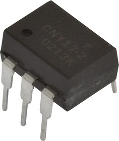 Фото 1/3 4N33, Оптопара с транзисторным выходом (составной транзистор) [DIP-6] (АОТ127А)