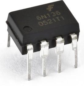 6N137M, Оптопара высокоскоростная 10 Мбит/с логическими уровнями на выходе [DIP-8]