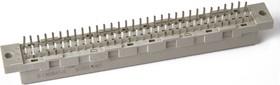 DIN41612, Розетка 16х2, A,B 4.5мм шаг 5.08 (контакт через один)