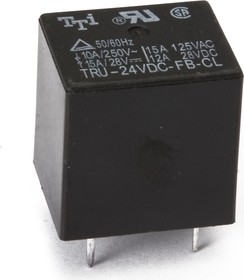 TRU-24VDC-FB-CL, Реле 1пер. 24В / 10А, 240VAC (OBSOLETE)