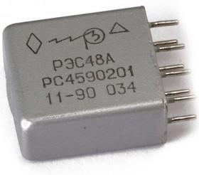 Фото 1/2 РЭС48А РС4.590.201 (27В), Реле электромагнитное