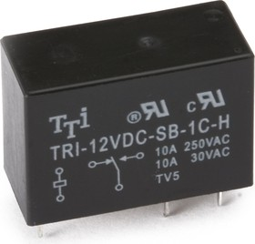 TRIL-12VDC-SD-1CH-R, Реле 1пер. 12V / 12А, 250VAC