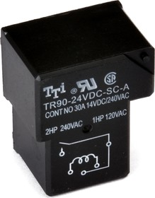 TR90-24VDC-SC-A-R, Реле 1зам. 24V / 30A, 240VAC