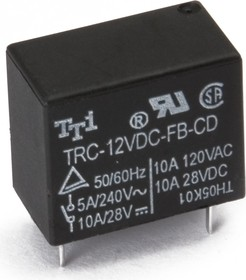 TRC-12VDC-SB-CD, Реле 1пер. 12V / 10A, 120VAC