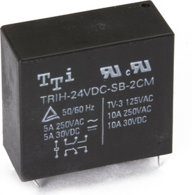 TRIH-9VDC-SD-2CM-R, Реле 2пер. 9V / 5A, 250VAC