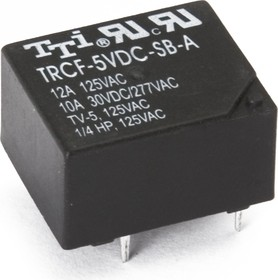 TRCF-5VDC-SD( SB)-A-R, Реле 1зам. 5V / 12А, 125VAC