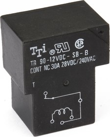 TR90-12VDC-SC-A, Реле 1зам. 12V / 30A, 240VAC