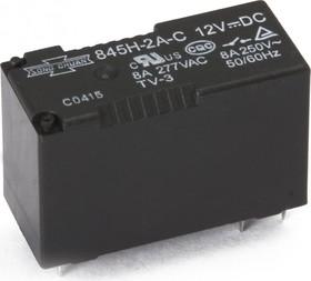 845H-2A-C 12VDC, Реле 2зам. 12В / 8A, 250V (OBSOLETE)