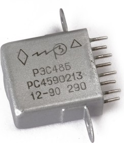 Фото 1/2 РЭС48Б РС4.590.216, (6В), Реле электромагнитное