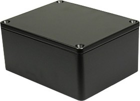 G113P(BK), Корпус для РЭА 115x90x55мм черный, металл, герметичный, черный
