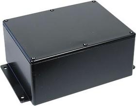 B033MFBK, Корпус для РЭА 165x127x75мм, металл, с крепежным фланцем, черный