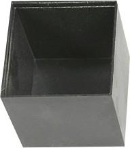 G252525B, Корпус для РЭА 25х25х25мм, пластик, черный