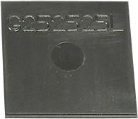 G252515L, Крышка для корпуса 25х25мм, пластик, черная