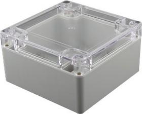 Фото 1/2 G2100С, Корпус для РЭА 100х100х55мм, пластик, с прозрачной крышкой