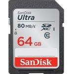 Фото 2/7 SDSDUNC-064G-GN6IN, Карта памяти SDXC 64 ГБ, Class 10