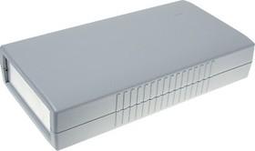 G421A, Корпус для РЭА 190х100х40мм, пластик, темно-серый, алюминиевая панель
