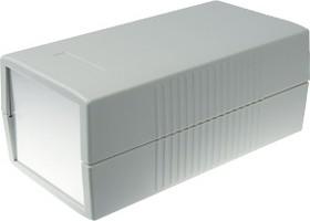 G459A, Корпус для РЭА 190х100х80мм, пластик, светло-серый, алюминиевая панель