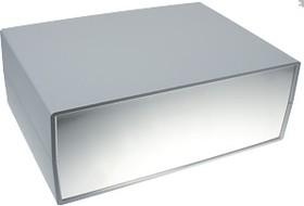 G722A, Корпус для РЭА 245х175х90мм, пластик, темно-серый, алюминиевая панель