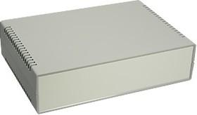 Фото 1/2 G729, Корпус для РЭА 260х180х65 мм, пластик, темно-серый, светло-серая панель