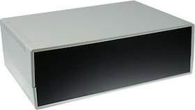 G753, Корпус для РЭА 260х180х85мм, пластик, светло-серый, черная панель